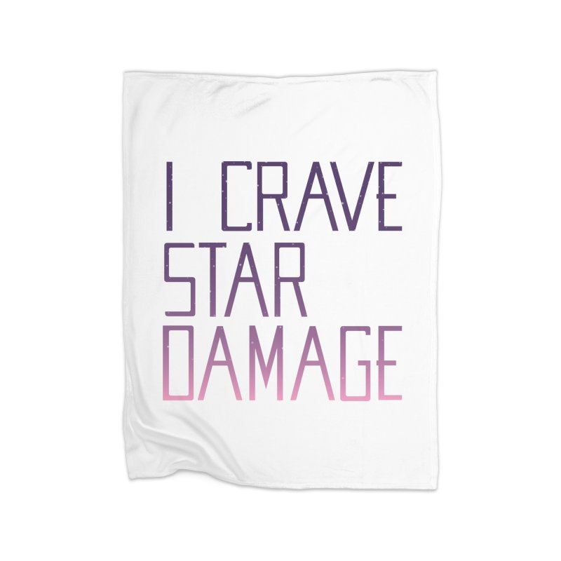 STRANGE PLANET: STAR DAMAGE - WHITE ACCESSORIES AND PRINTS Home Fleece Blanket Blanket by Nathan W Pyle
