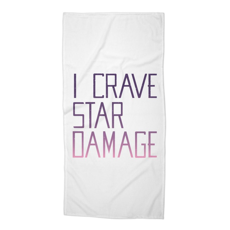 STRANGE PLANET: STAR DAMAGE - WHITE ACCESSORIES AND PRINTS Accessories Beach Towel by Nathan W Pyle