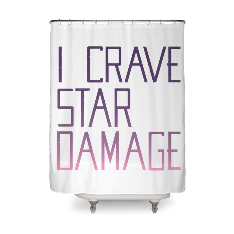 STRANGE PLANET: STAR DAMAGE - WHITE ACCESSORIES AND PRINTS Home Shower Curtain by Nathan W Pyle