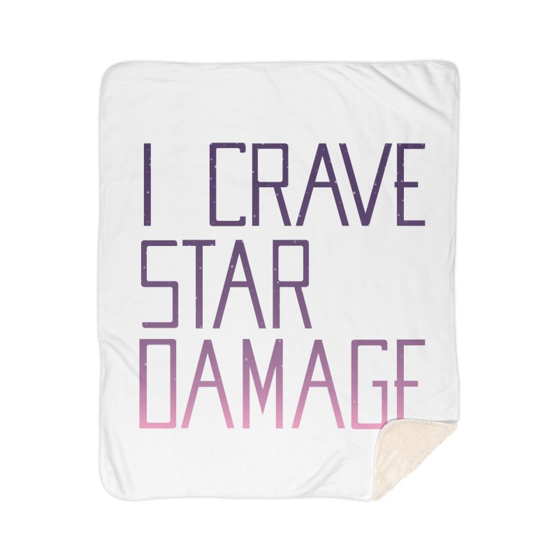 STRANGE PLANET: STAR DAMAGE - WHITE ACCESSORIES AND PRINTS Home Sherpa Blanket Blanket by Nathan W Pyle