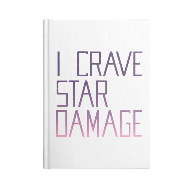STRANGE PLANET: STAR DAMAGE - WHITE ACCESSORIES AND PRINTS Accessories Lined Journal Notebook by Nathan W Pyle