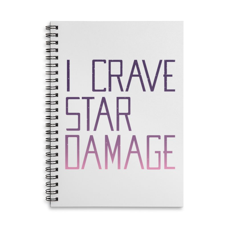 STRANGE PLANET: STAR DAMAGE - WHITE ACCESSORIES AND PRINTS Accessories Lined Spiral Notebook by Nathan W Pyle