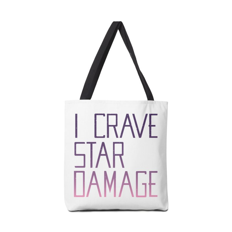 STRANGE PLANET: STAR DAMAGE - WHITE ACCESSORIES AND PRINTS Accessories Tote Bag Bag by Nathan W Pyle