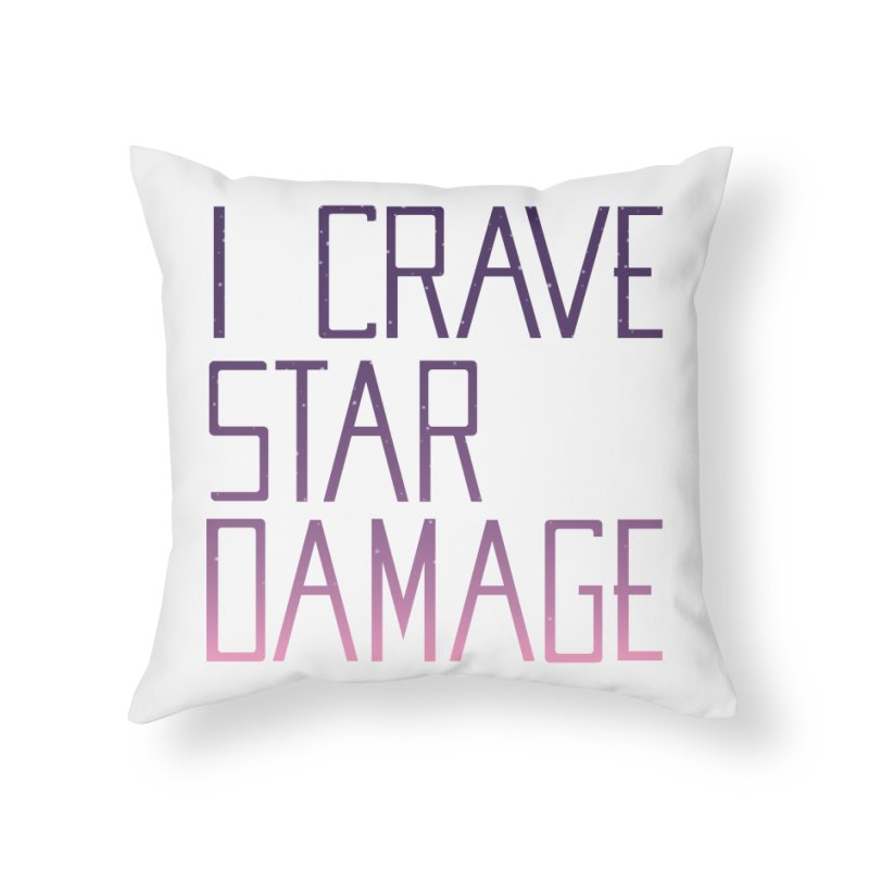 STRANGE PLANET: STAR DAMAGE - WHITE ACCESSORIES AND PRINTS Home Throw Pillow by Nathan W Pyle