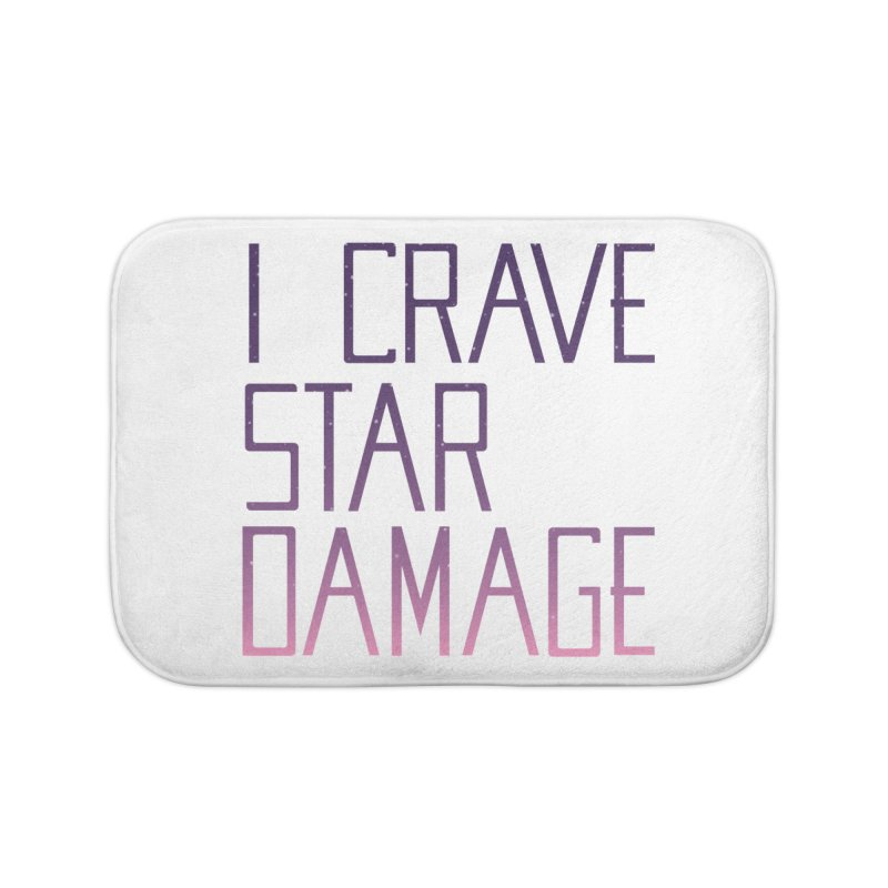 STRANGE PLANET: STAR DAMAGE - WHITE ACCESSORIES AND PRINTS Home Bath Mat by Nathan W Pyle