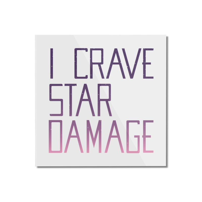 STRANGE PLANET: STAR DAMAGE - WHITE ACCESSORIES AND PRINTS Home Mounted Acrylic Print by Nathan W Pyle
