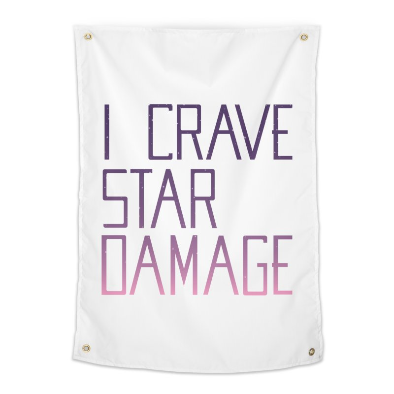 STRANGE PLANET: STAR DAMAGE - WHITE ACCESSORIES AND PRINTS Home Tapestry by Nathan W Pyle