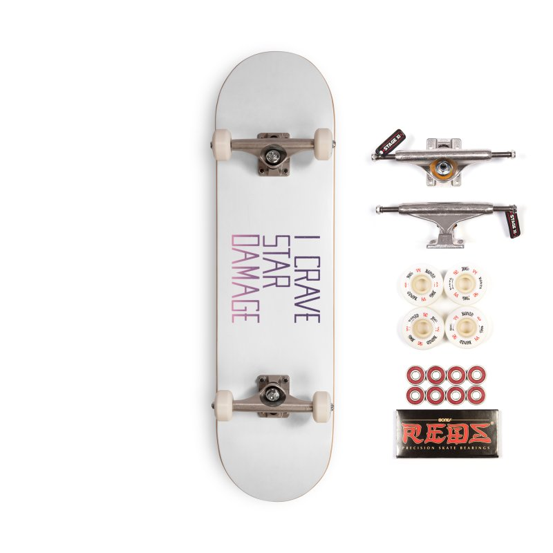 STRANGE PLANET: STAR DAMAGE - WHITE ACCESSORIES AND PRINTS Accessories Complete - Pro Skateboard by Nathan W Pyle