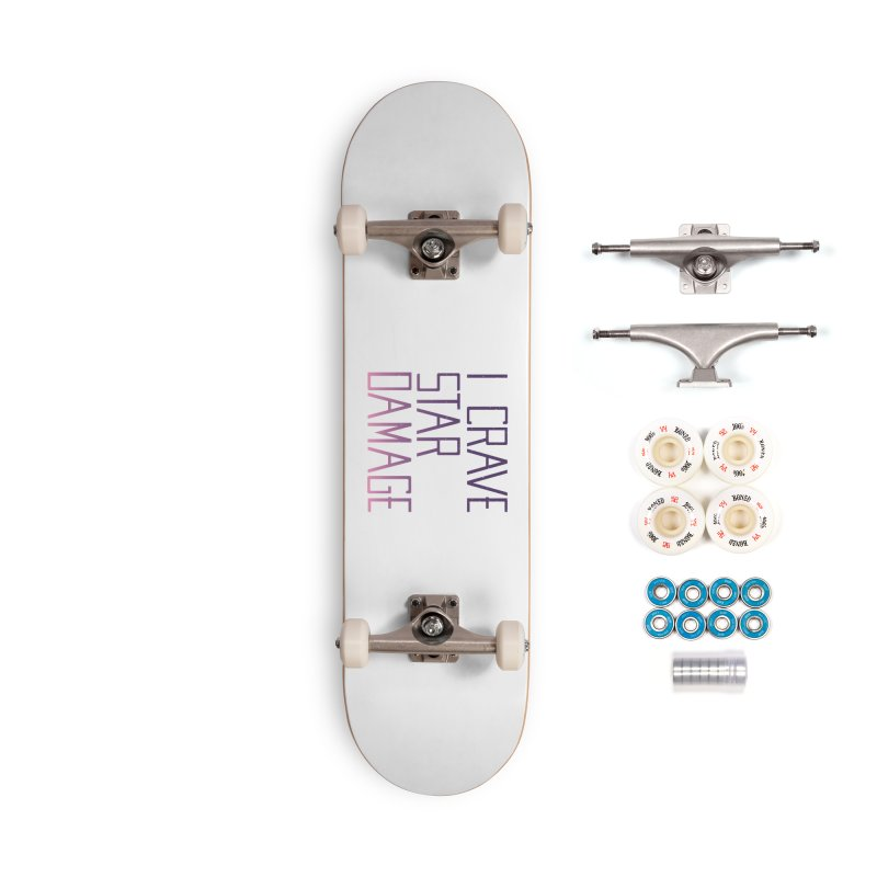 STRANGE PLANET: STAR DAMAGE - WHITE ACCESSORIES AND PRINTS Accessories Complete - Premium Skateboard by Nathan W Pyle