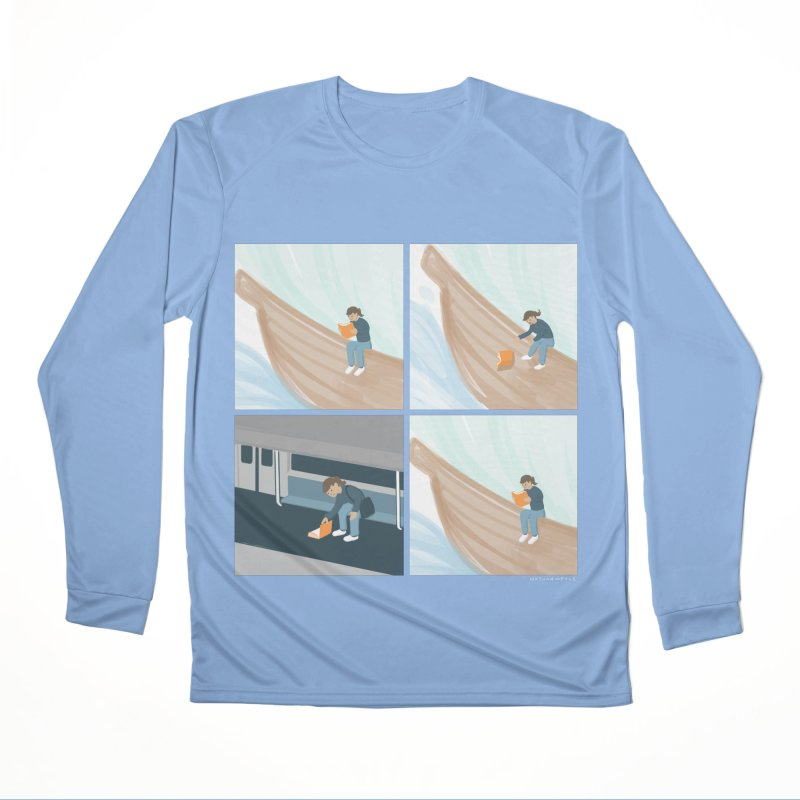Lost In A Good Book Men's Performance Longsleeve T-Shirt by Nathan W Pyle