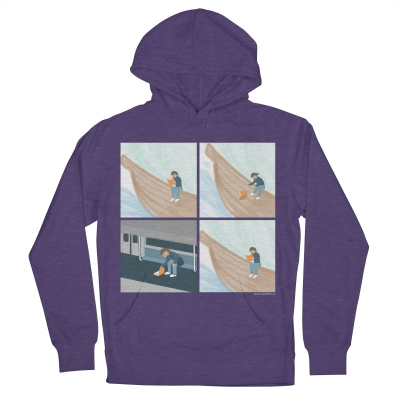 Lost In A Good Book Women's French Terry Pullover Hoody by Nathan W Pyle