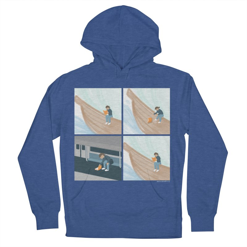 Lost In A Good Book Men's French Terry Pullover Hoody by Nathan W Pyle