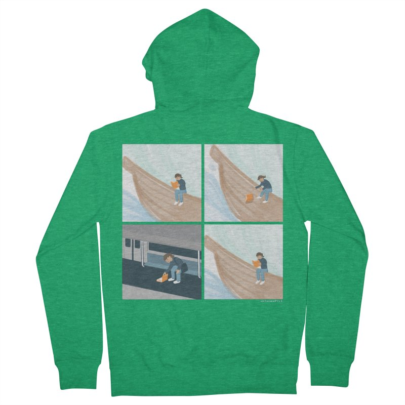 Lost In A Good Book Women's French Terry Zip-Up Hoody by Nathan W Pyle