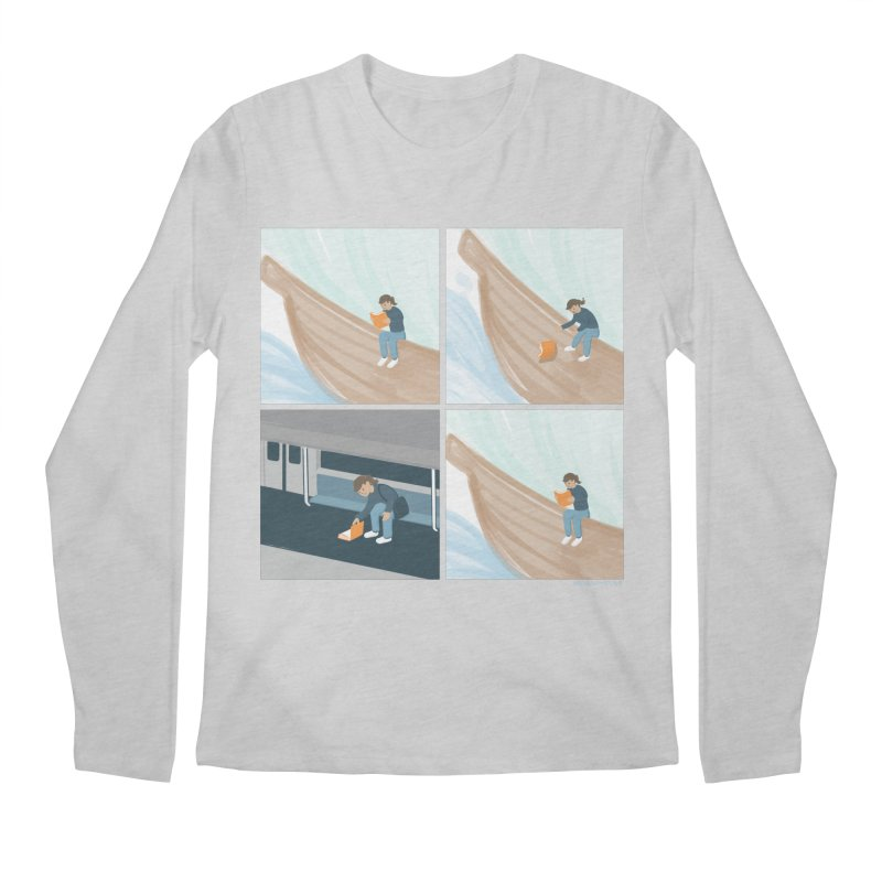 Lost In A Good Book Men's Regular Longsleeve T-Shirt by Nathan W Pyle