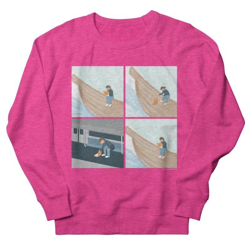 Lost In A Good Book Women's French Terry Sweatshirt by Nathan W Pyle