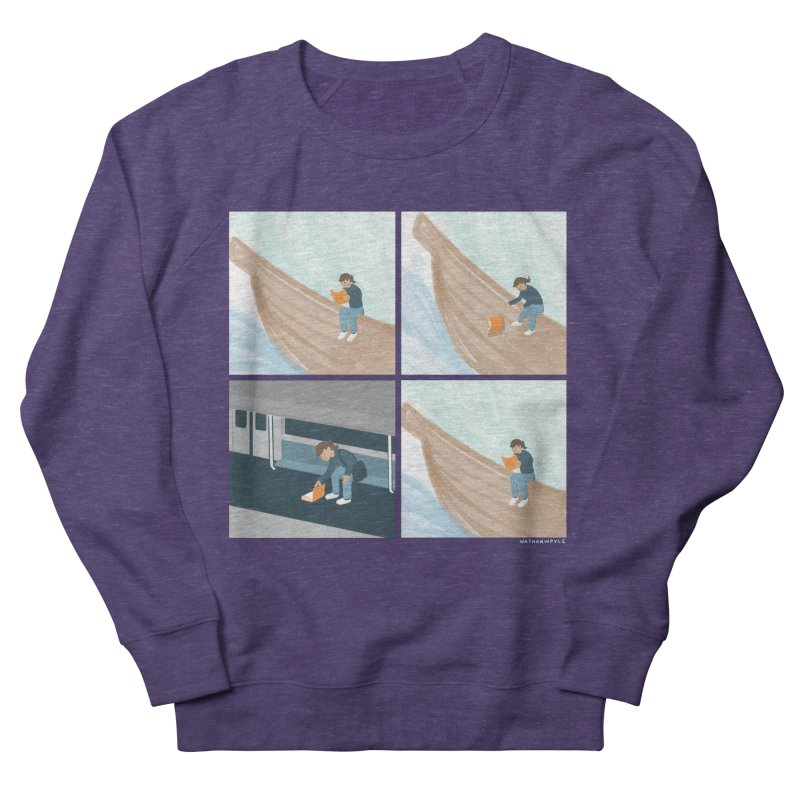 Lost In A Good Book Men's French Terry Sweatshirt by Nathan W Pyle