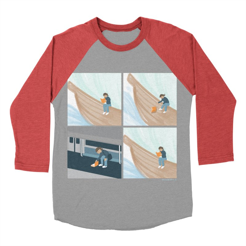 Lost In A Good Book Women's Baseball Triblend Longsleeve T-Shirt by Nathan W Pyle