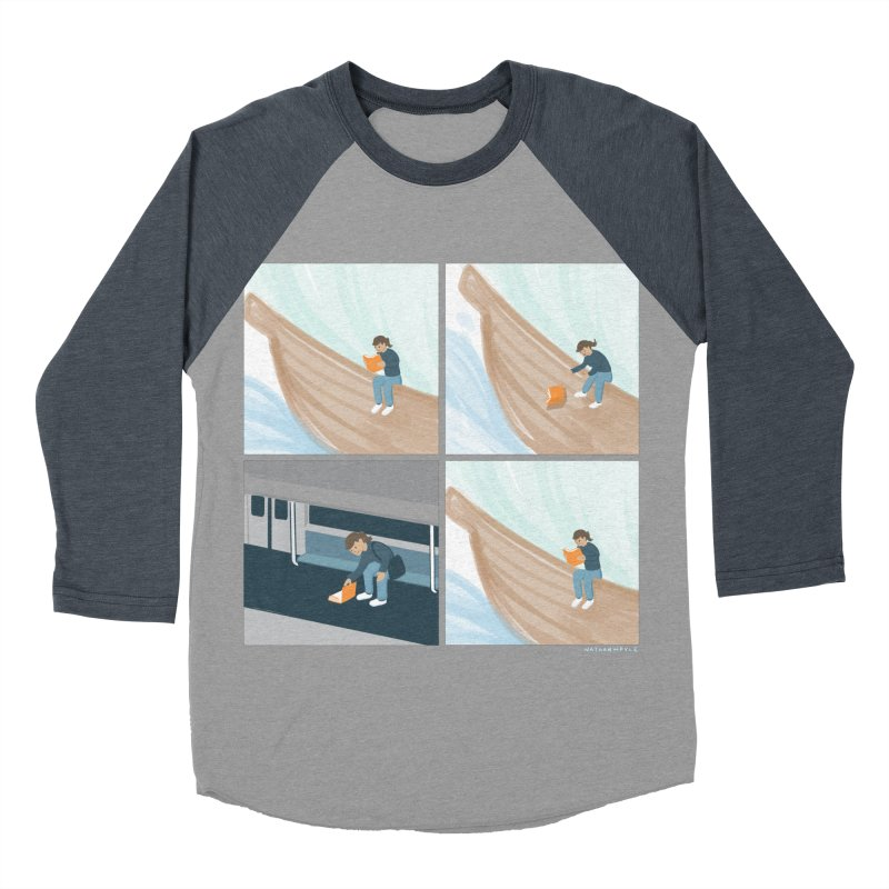 Lost In A Good Book Men's Baseball Triblend Longsleeve T-Shirt by Nathan W Pyle