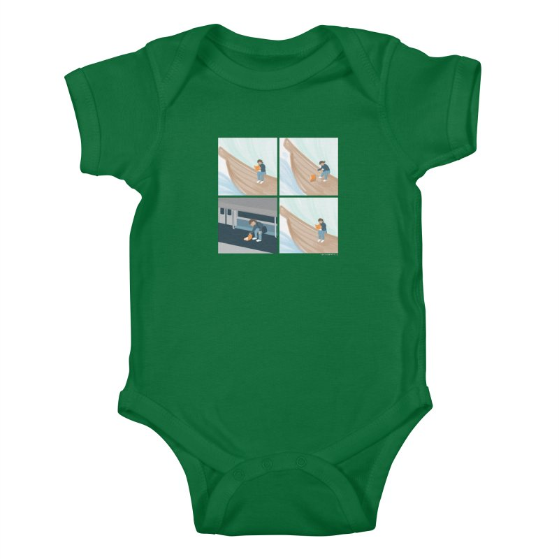 Lost In A Good Book Kids Baby Bodysuit by Nathan W Pyle