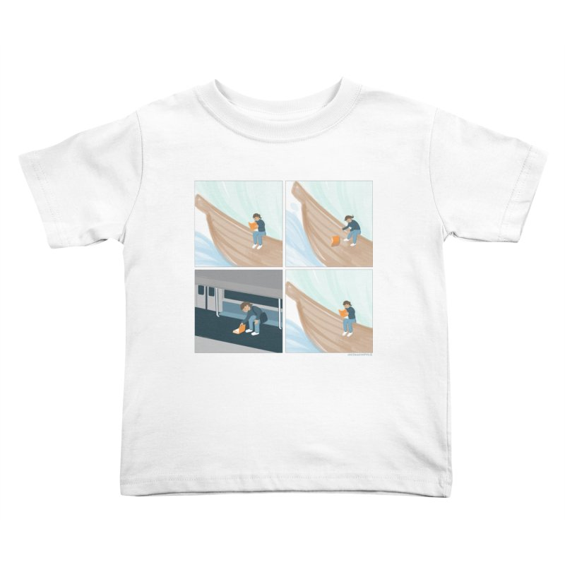 Lost In A Good Book Kids Toddler T-Shirt by Nathan W Pyle