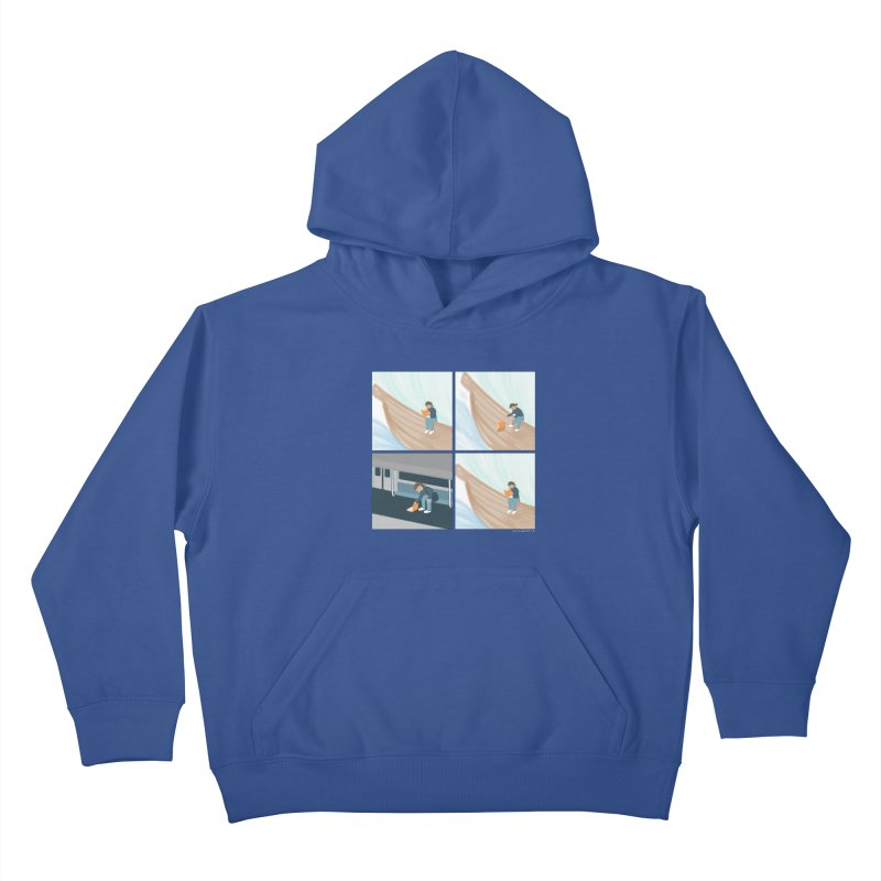 Lost In A Good Book Kids Pullover Hoody by Nathan W Pyle
