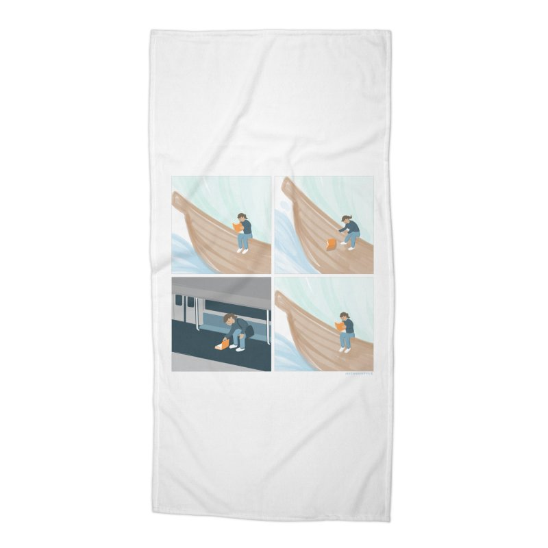 Lost In A Good Book Accessories Beach Towel by Nathan W Pyle