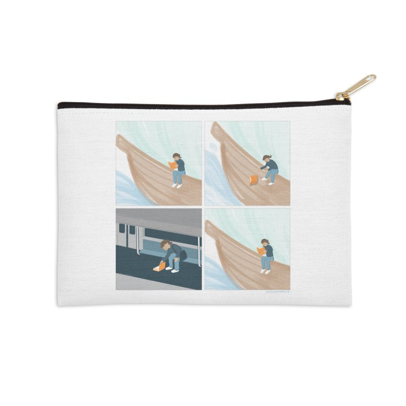 Lost In A Good Book Accessories Zip Pouch by Nathan W Pyle