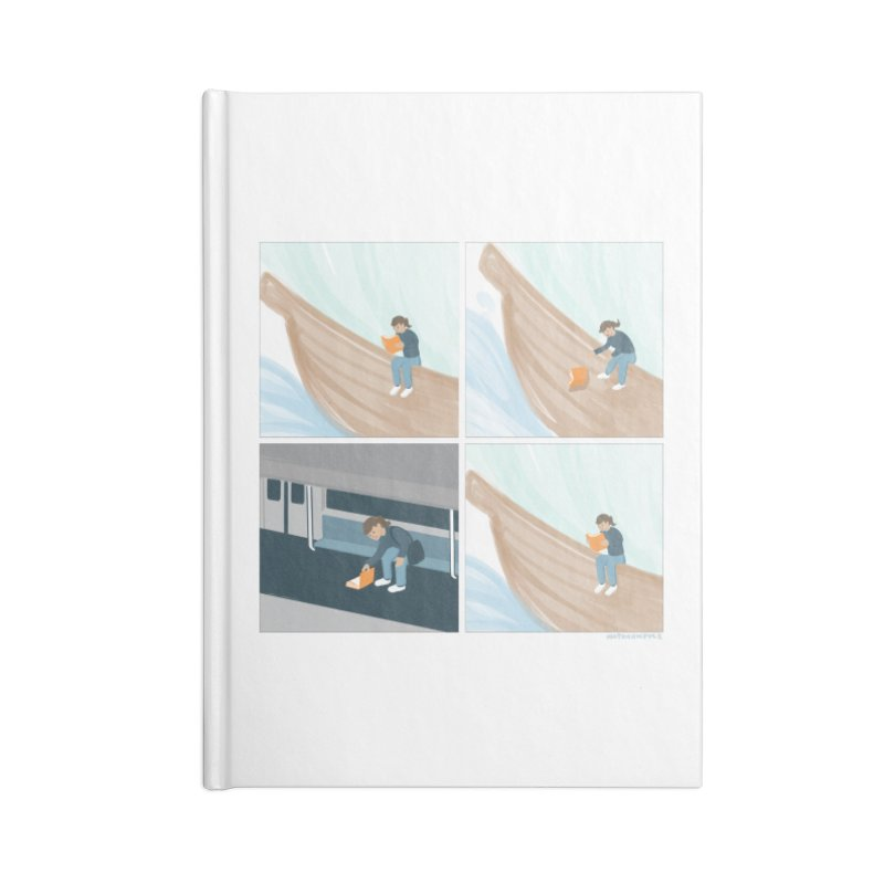 Lost In A Good Book Accessories Lined Journal Notebook by Nathan W Pyle
