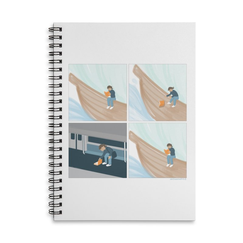Lost In A Good Book Accessories Lined Spiral Notebook by Nathan W Pyle