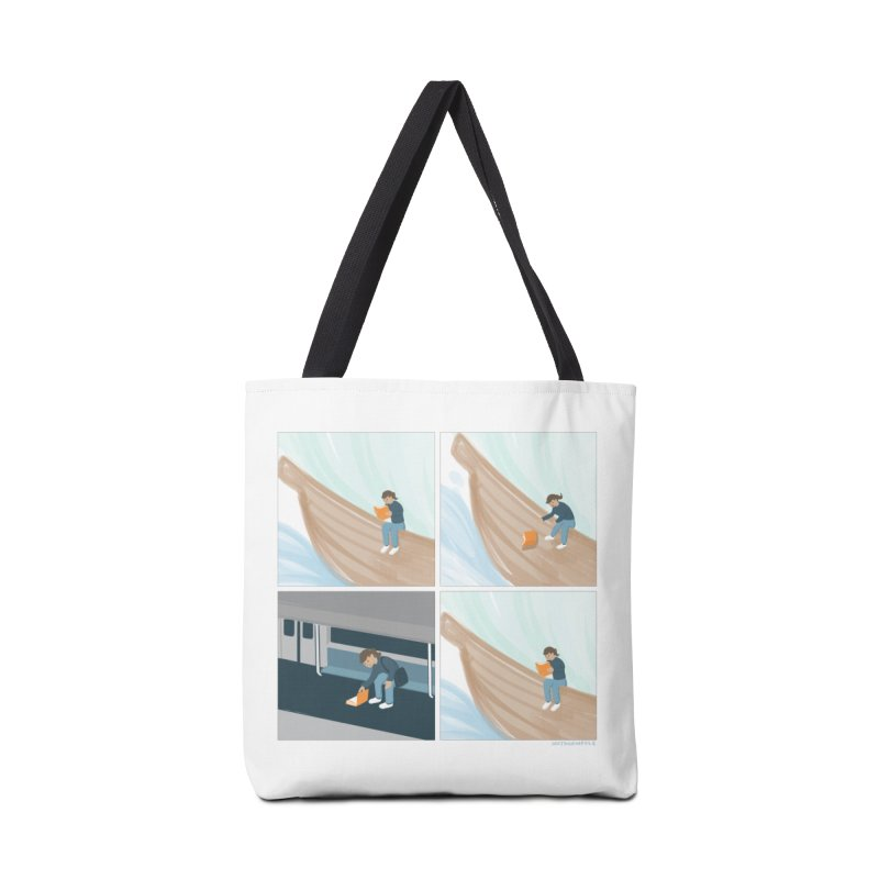 Lost In A Good Book Accessories Tote Bag Bag by Nathan W Pyle