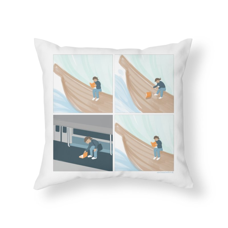 Lost In A Good Book Home Throw Pillow by Nathan W Pyle