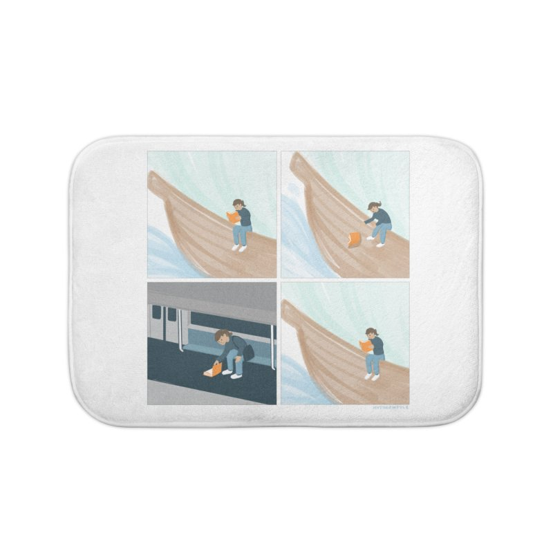 Lost In A Good Book Home Bath Mat by Nathan W Pyle