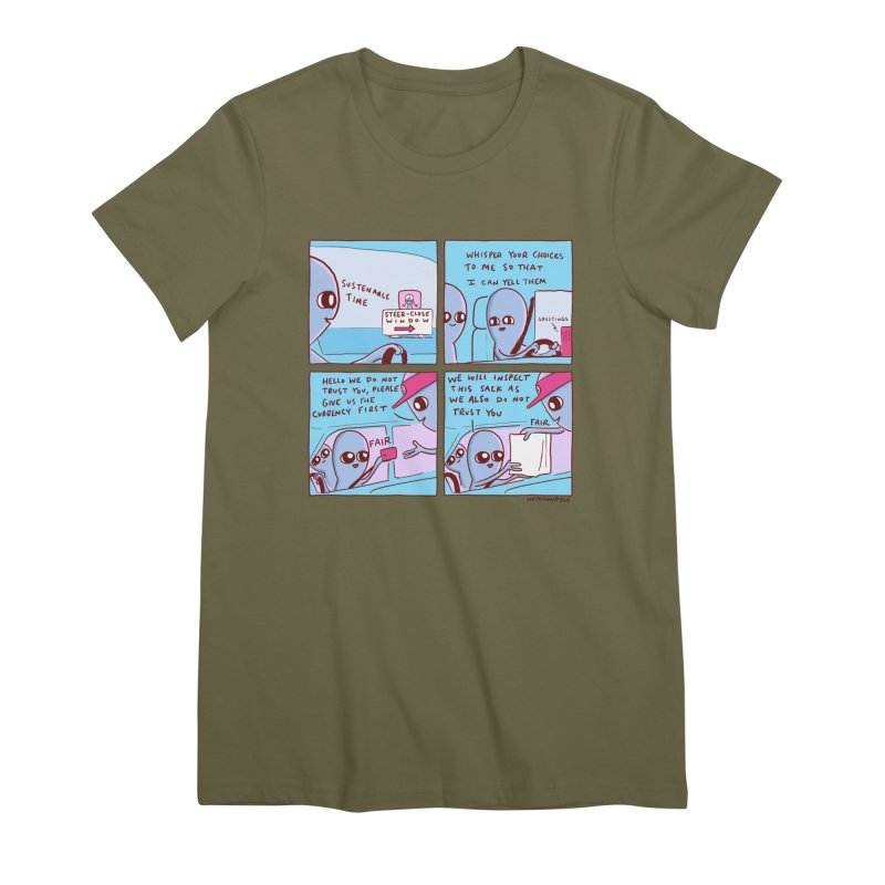 STRANGE PLANET: STEER-CLOSE WINDOW Women's T-Shirt by Nathan W Pyle