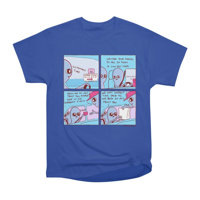 STRANGE PLANET: STEER-CLOSE WINDOW Women's Heavyweight Unisex T-Shirt by Nathan W Pyle