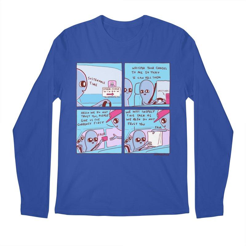 STRANGE PLANET: STEER-CLOSE WINDOW Men's Regular Longsleeve T-Shirt by Nathan W Pyle