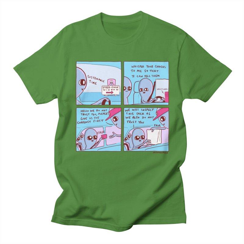 STRANGE PLANET: STEER-CLOSE WINDOW Men's Regular T-Shirt by Nathan W Pyle
