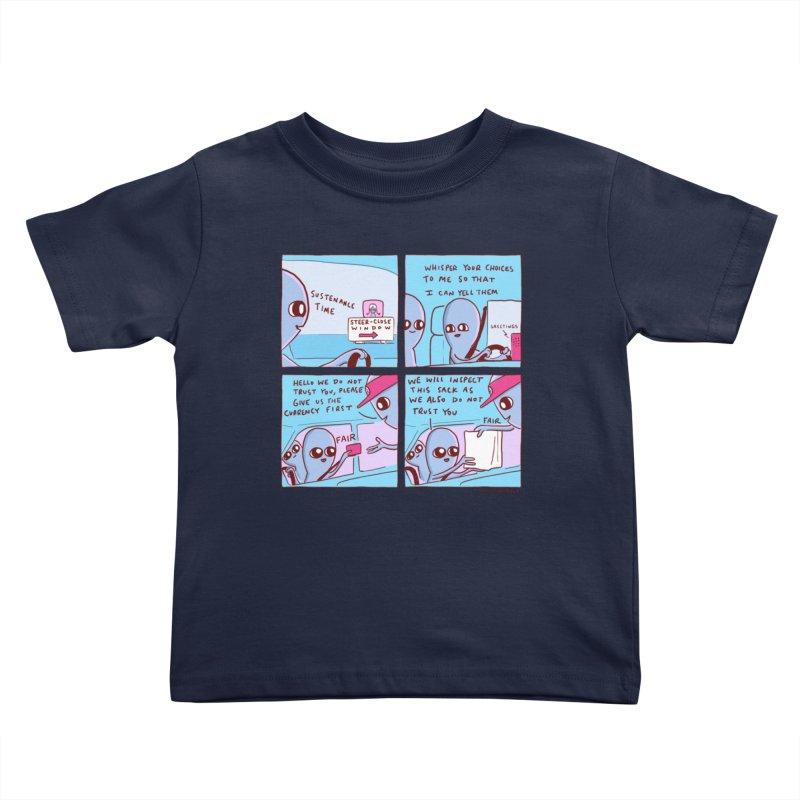 STRANGE PLANET: STEER-CLOSE WINDOW Kids Toddler T-Shirt by Nathan W Pyle
