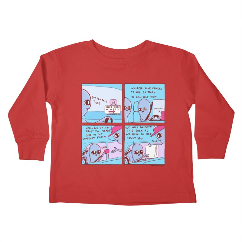 STRANGE PLANET: STEER-CLOSE WINDOW Kids Toddler Longsleeve T-Shirt by Nathan W Pyle