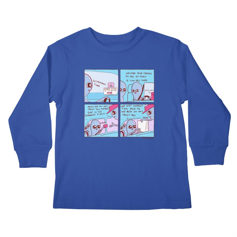 STRANGE PLANET: STEER-CLOSE WINDOW Kids Longsleeve T-Shirt by Nathan W Pyle
