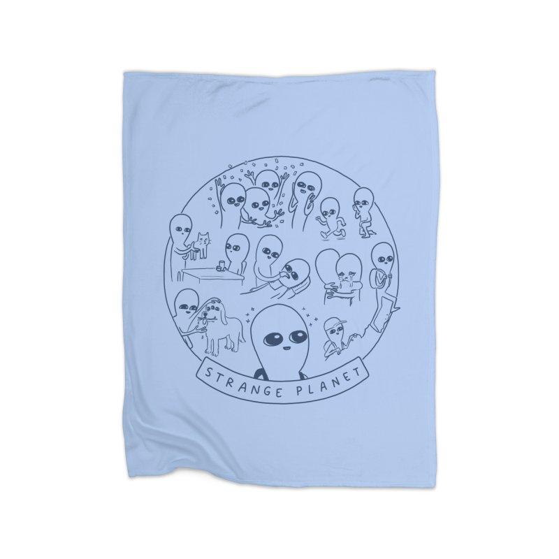 STRANGE PLANET: SUMMER CAMP DESIGN Home Fleece Blanket Blanket by Nathan W Pyle