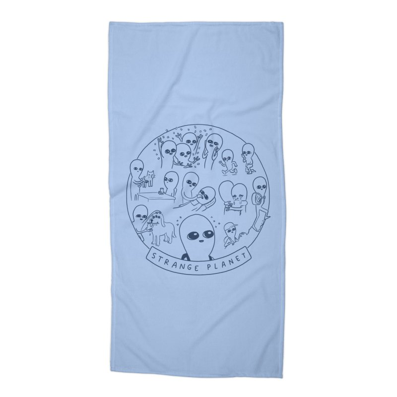 STRANGE PLANET: SUMMER CAMP DESIGN Accessories Beach Towel by Nathan W Pyle