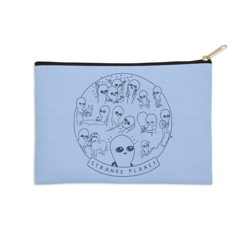 STRANGE PLANET: SUMMER CAMP DESIGN Accessories Zip Pouch by Nathan W Pyle