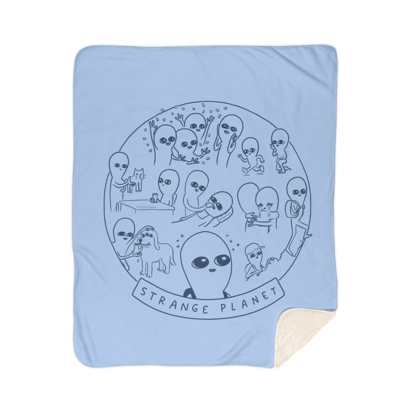STRANGE PLANET: SUMMER CAMP DESIGN Home Sherpa Blanket Blanket by Nathan W Pyle