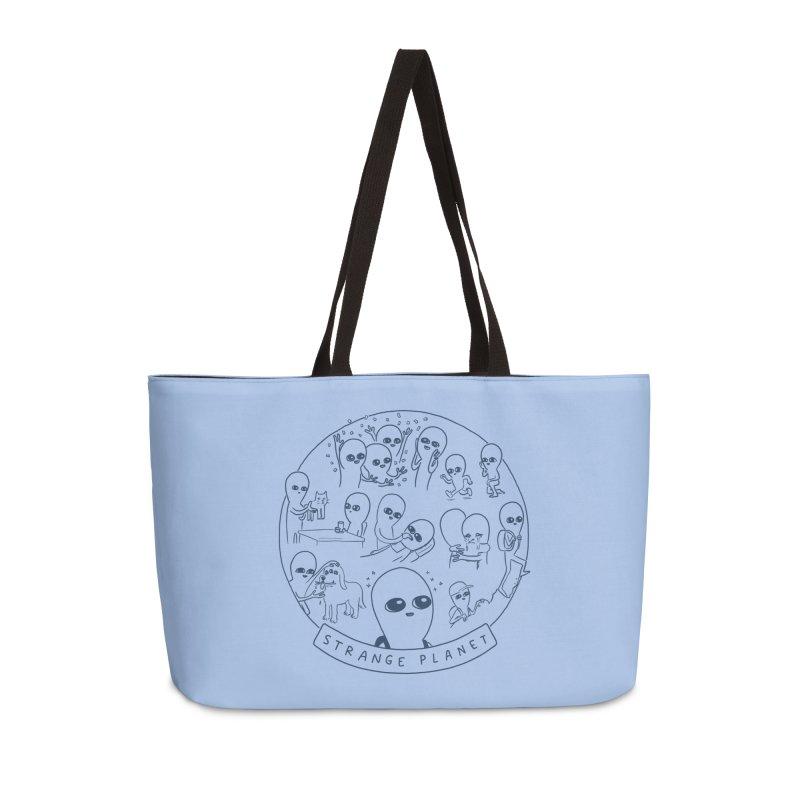 STRANGE PLANET: SUMMER CAMP DESIGN Accessories Weekender Bag Bag by Nathan W Pyle