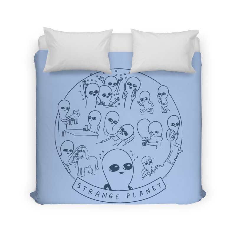 STRANGE PLANET: SUMMER CAMP DESIGN Home Duvet by Nathan W Pyle
