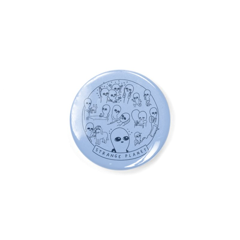 STRANGE PLANET: SUMMER CAMP DESIGN Accessories Button by Nathan W Pyle