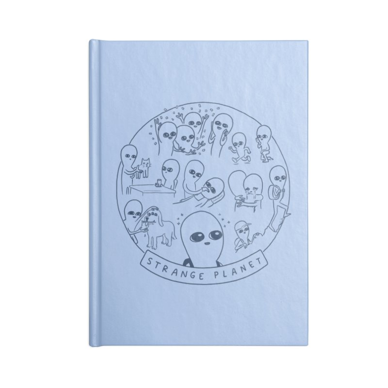 STRANGE PLANET: SUMMER CAMP DESIGN Accessories Lined Journal Notebook by Nathan W Pyle