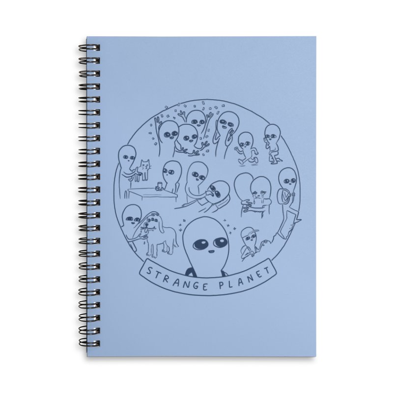 STRANGE PLANET: SUMMER CAMP DESIGN Accessories Lined Spiral Notebook by Nathan W Pyle