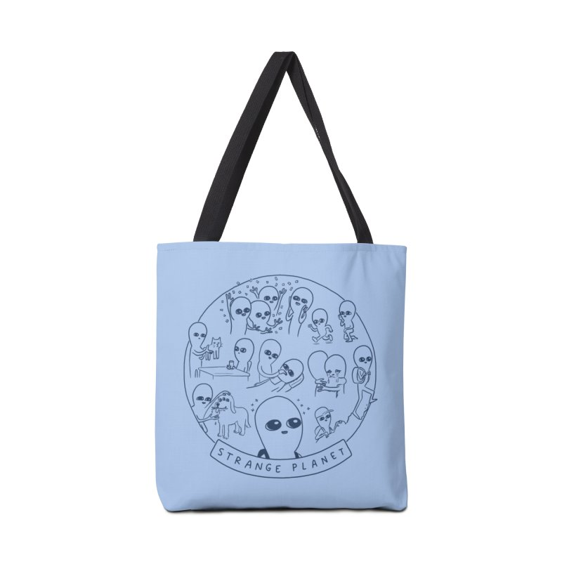 STRANGE PLANET: SUMMER CAMP DESIGN Accessories Tote Bag Bag by Nathan W Pyle