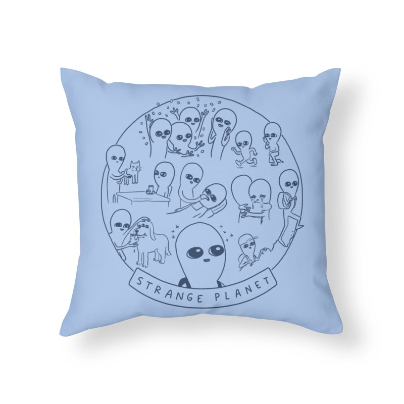STRANGE PLANET: SUMMER CAMP DESIGN Home Throw Pillow by Nathan W Pyle